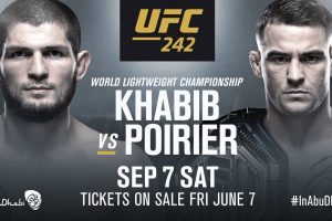 UFC242 ハビブ・ヌルマゴメドフ(khabib nurmagomedov) vs ダスティン・ポイエー(dustin poirier)を見るには?アブダビで世紀の決戦!